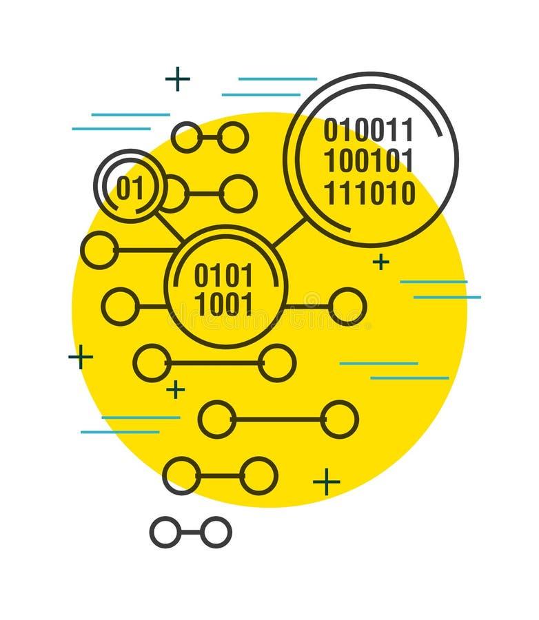 Fond de technologie numérique de code binaire illustration de vecteur