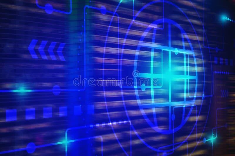 Fond de technologie pour l'Internet de la technologie de choses et du grand concept de données illustration de vecteur