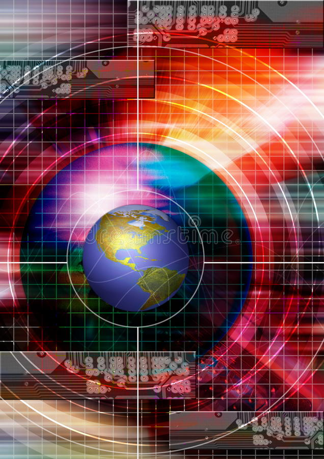 Fond de technologie. Technologie électronique biomédicale illustration de vecteur