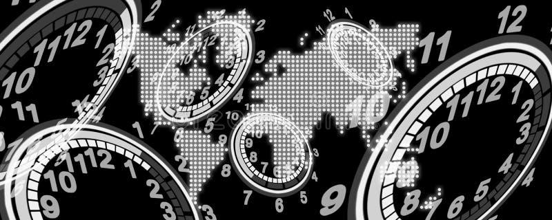 Fond de temps illustration de vecteur
