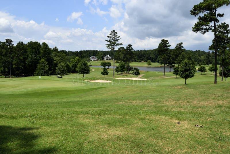 Fond de terrain de golf images libres de droits