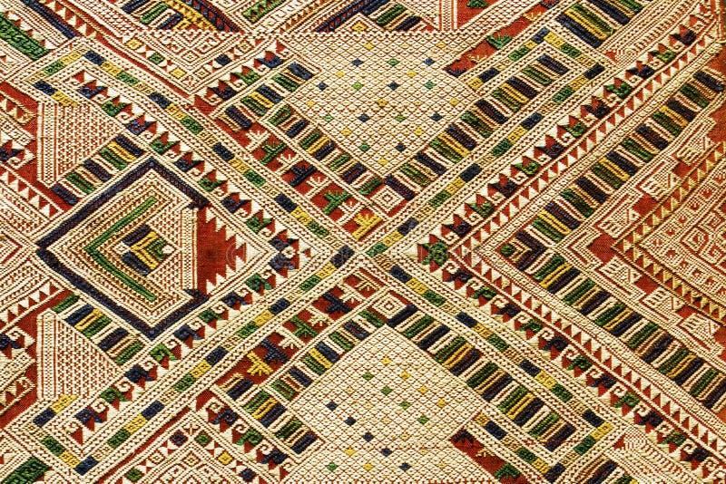 Fond de textile tissé par main, Laos images stock