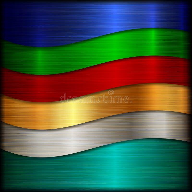 Fond de texture balayé par résumé en métal de vecteur illustration stock