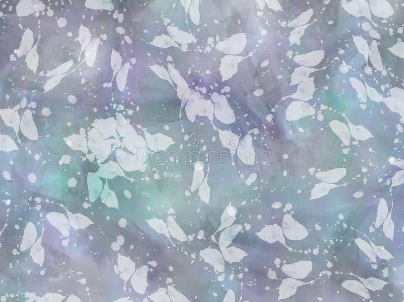 Fond de texture d'Aqua Blue Purple Watercolor Paper illustration de vecteur