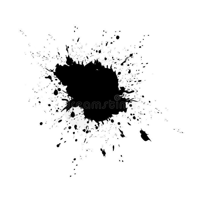 Fond de texture d'?claboussure d'aquarelle de vecteur d'isolement Goutte tir?e par la main, tache Effets d'aquarelle abr?gez le f illustration de vecteur
