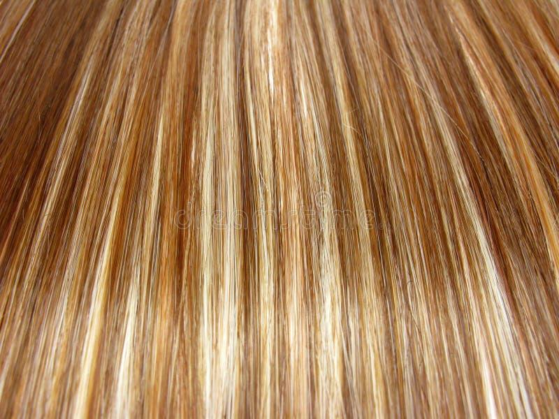 Fond de texture de cheveu de point culminant images libres de droits