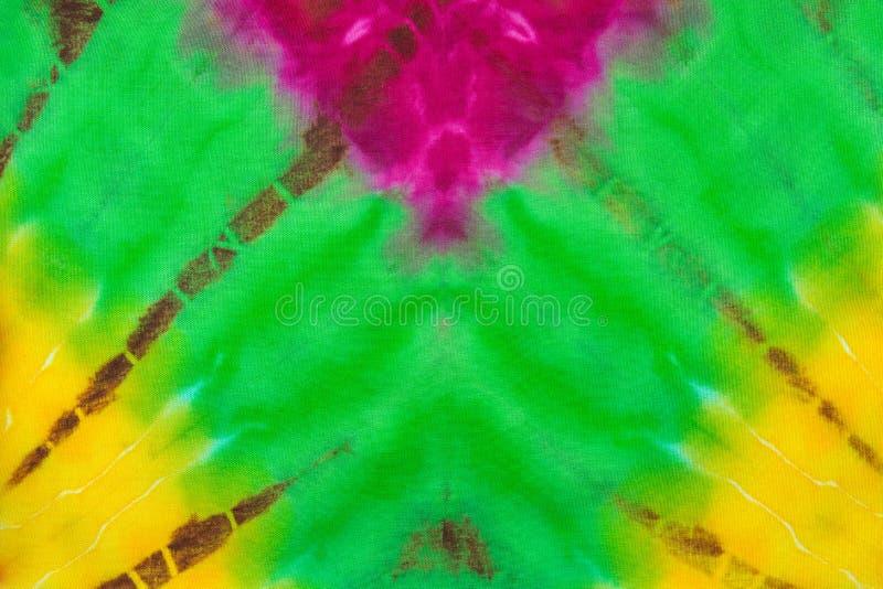 Fond de texture de couleur de colorant de lien de tissu images stock