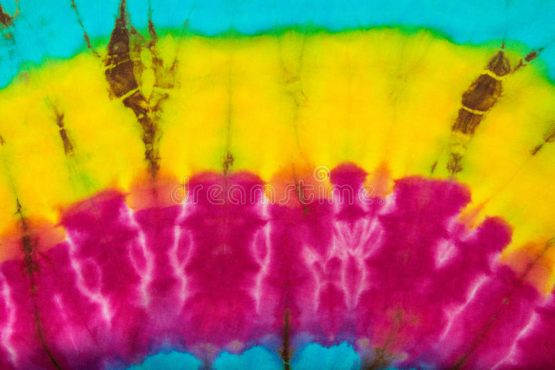 Fond de texture de couleur de colorant de lien de tissu photo stock