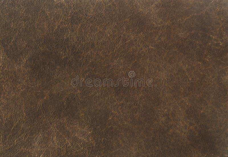 Fond de texture de cuir de brun foncé Fermez-vous d'une texture en cuir antique modèle en cuir de fond de brun de texture images libres de droits