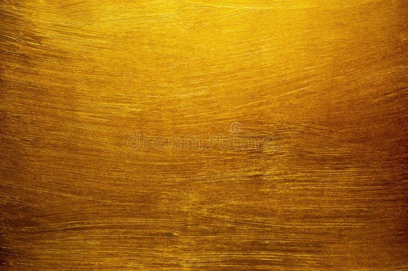 Fond de texture de peinture d'or photo libre de droits