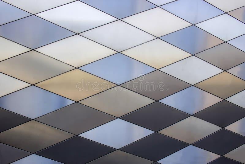 Fond de texture en métal Configuration architecturale abstraite Plats colorés en métal photos libres de droits