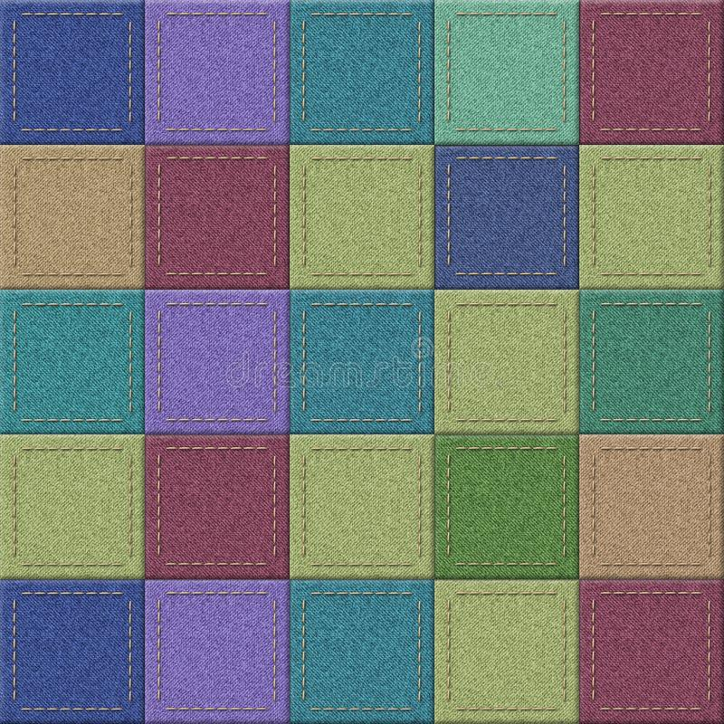 Fond de texture de jeans de patchwork de couleur photos stock