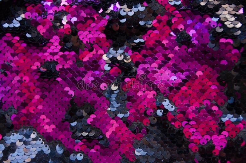 Fond de texture de modèle de paillettes de cercle et texture roses images libres de droits