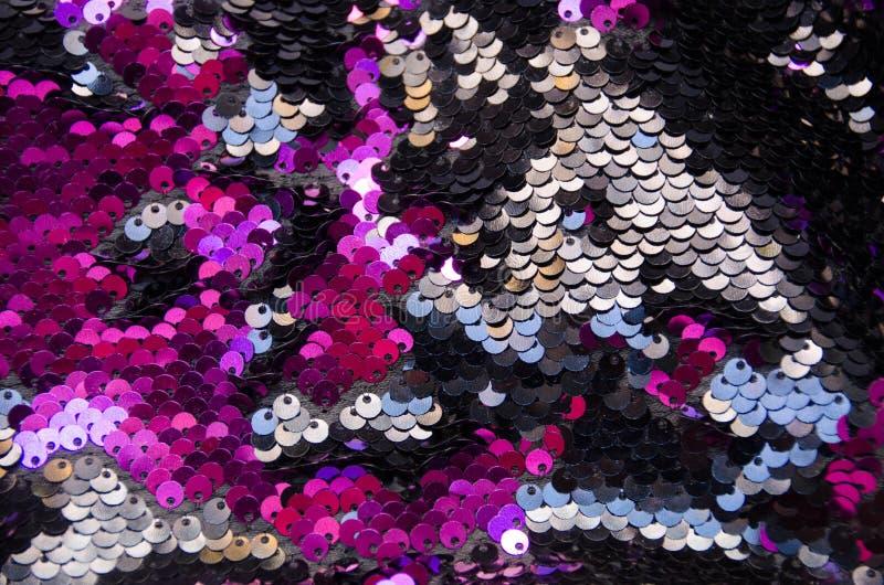 Fond de texture de modèle de paillettes de cercle et texture roses photo libre de droits