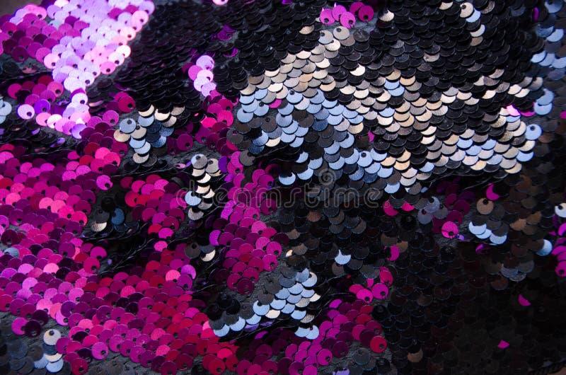 Fond de texture de modèle de paillettes de cercle et texture roses photographie stock