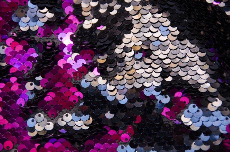 Fond de texture de modèle de paillettes de cercle et texture roses photo stock