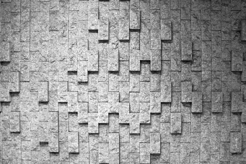 Fond de texture de mur de briques de grès Modèle naturel de papier peint Cadre noir et blanc images stock