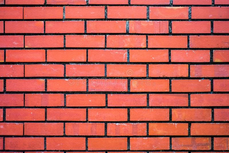 Fond de texture rouge de modèle de mur de briques photos libres de droits