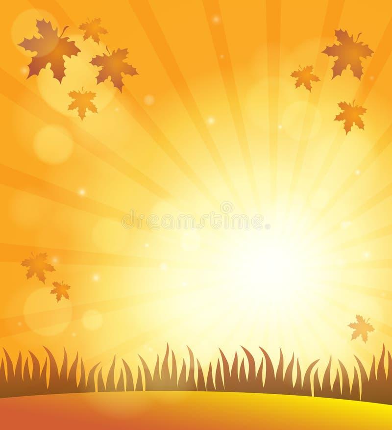 Fond 6 de thème de ciel d'automne illustration libre de droits