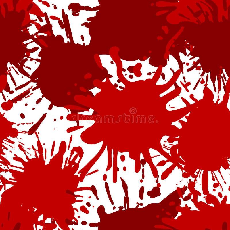 Fond de thème de Halloween de vecteur, modèle SANS COUTURE, éclaboussures de sang illustration stock