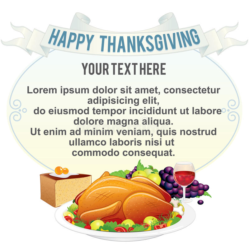 Fond de thanksgiving illustration de vecteur