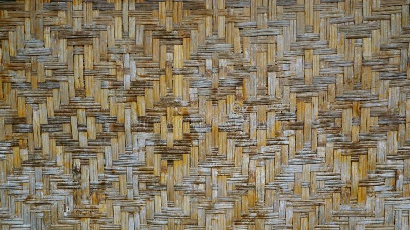Fond de tissage de bambou photographie stock libre de droits