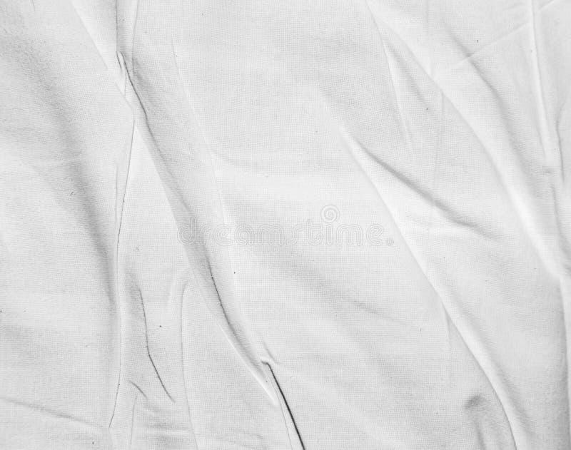 Fond de tissu blanc chiffonné image libre de droits