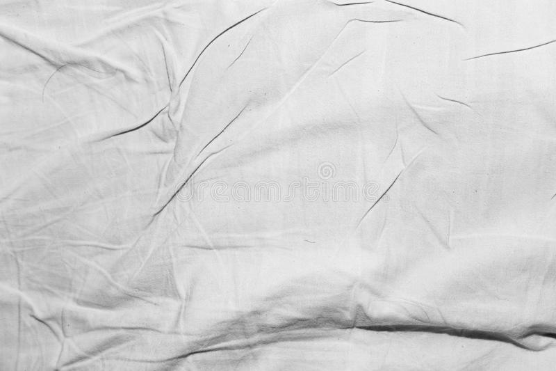Fond de tissu blanc chiffonné photographie stock