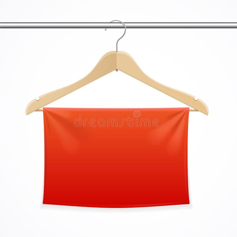 Fond de tissu de cintre Vecteur illustration stock