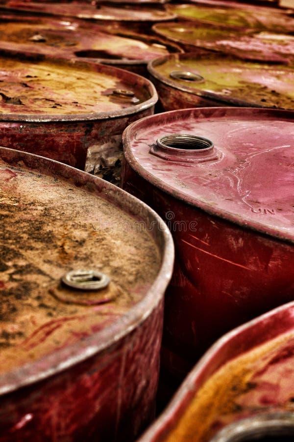 Fond de tonneau à huile image libre de droits