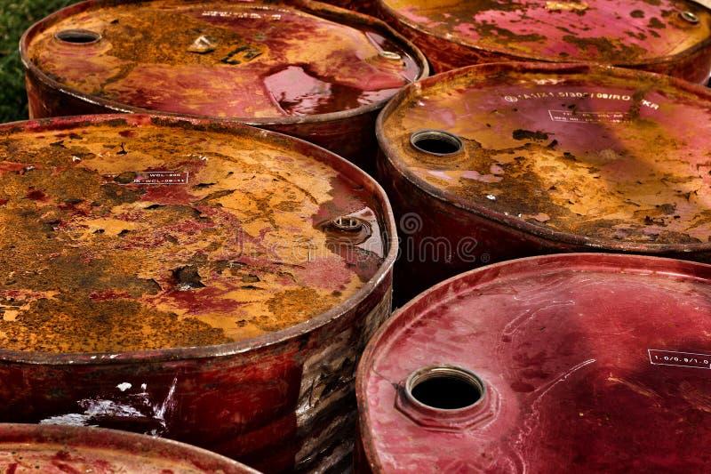 Fond de tonneau à huile photographie stock