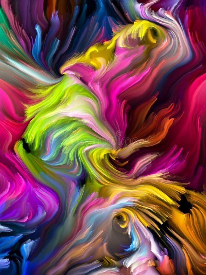 Fond de tourbillonnement de couleur illustration stock