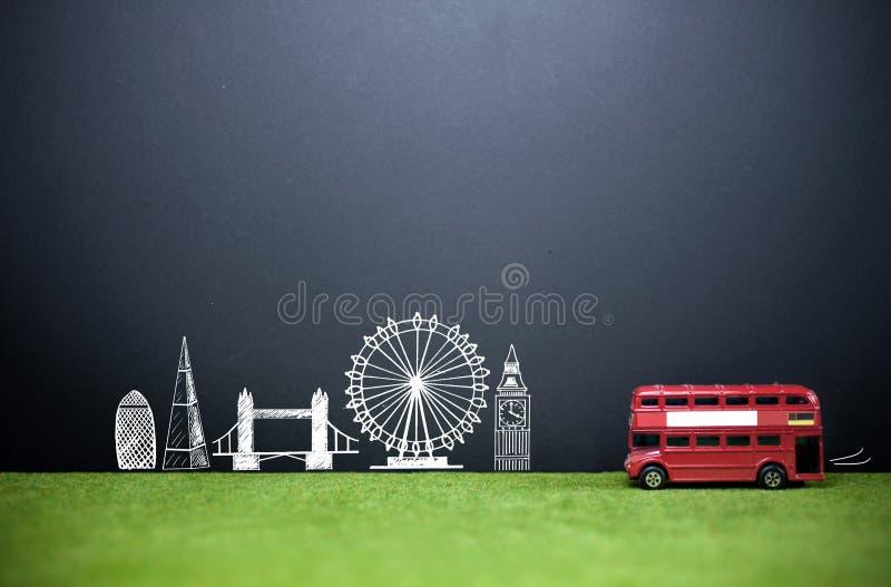 Fond de tourisme d'horizon de Londres images stock