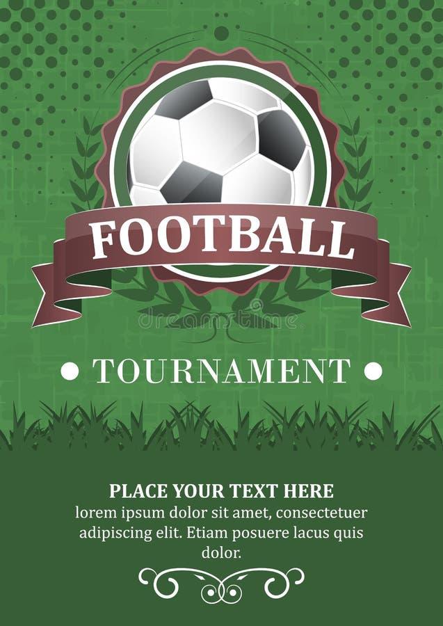 Fond de tournoi du football illustration libre de droits