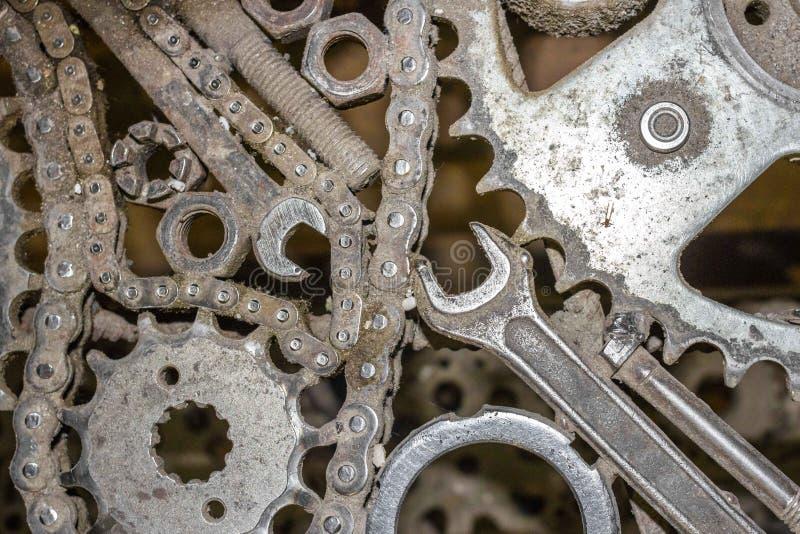 Fond de transport des outils et des pièces de rechange photo stock