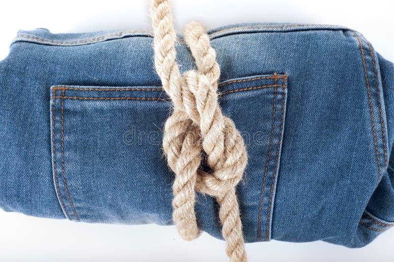 Fond de treillis bleu Texture bleue de jeans de denim Fond de jeans photos stock
