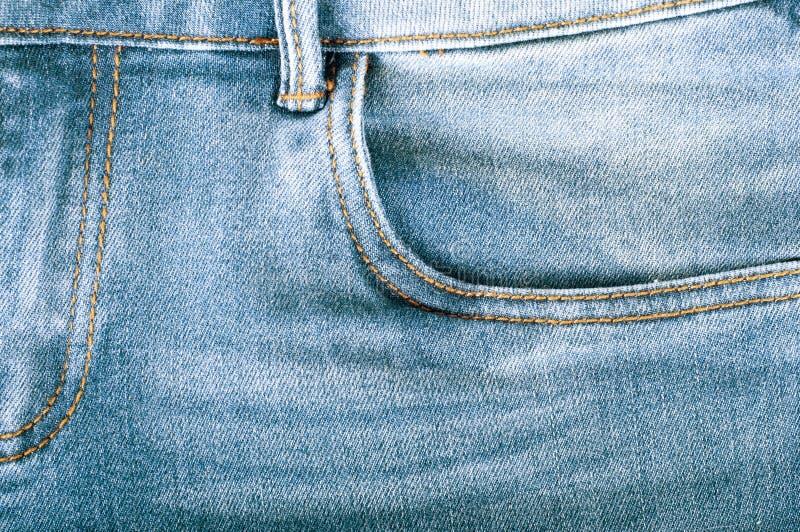 Fond de treillis bleu Texture bleue de jeans de denim Fond de jeans image stock