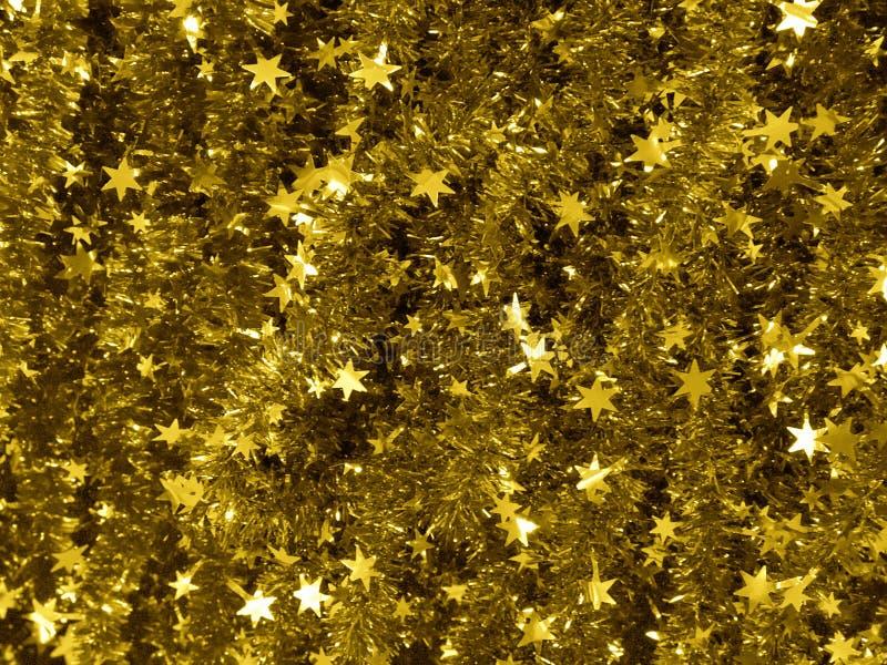 Fond de tresse d'or de Noël photographie stock
