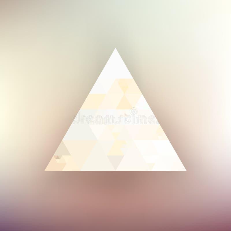 Fond de triangle de hippie illustration stock