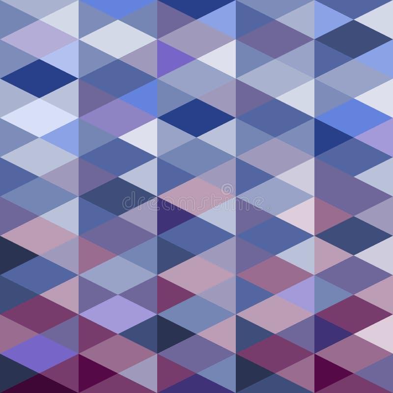 Fond de triangle de mosaïque Fond géométrique Fond de losange illustration stock