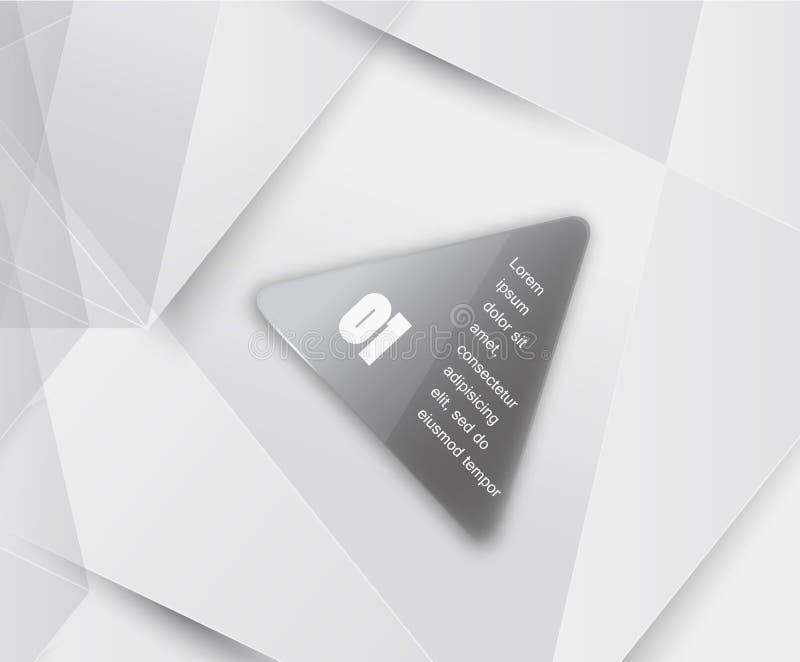 Fond de triangle de vecteur. Objet de couleur illustration stock
