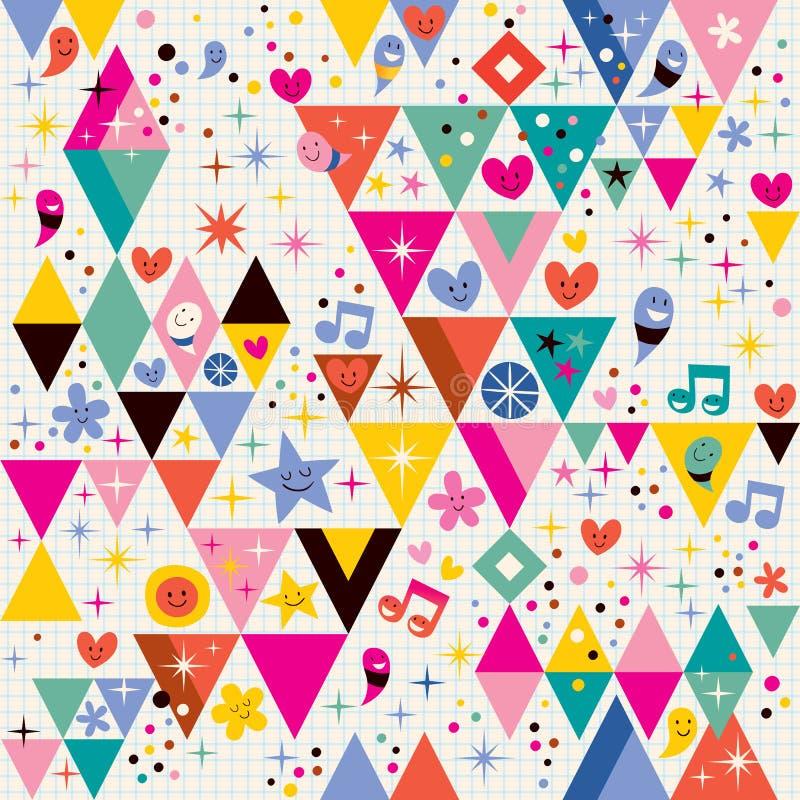 Fond de triangles d'amusement illustration libre de droits