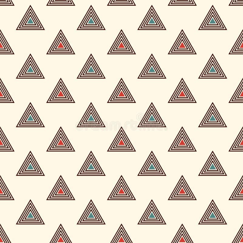 Fond de triangles répété par contour Papier peint abstrait simple avec les chiffres géométriques Configuration extérieure sans jo illustration stock