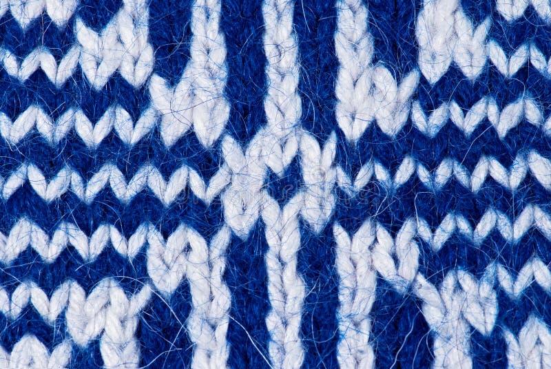Fond de tricotage bleu image libre de droits