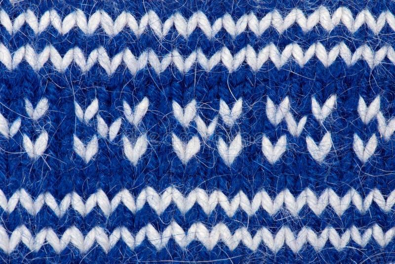 Fond de tricotage bleu photographie stock libre de droits