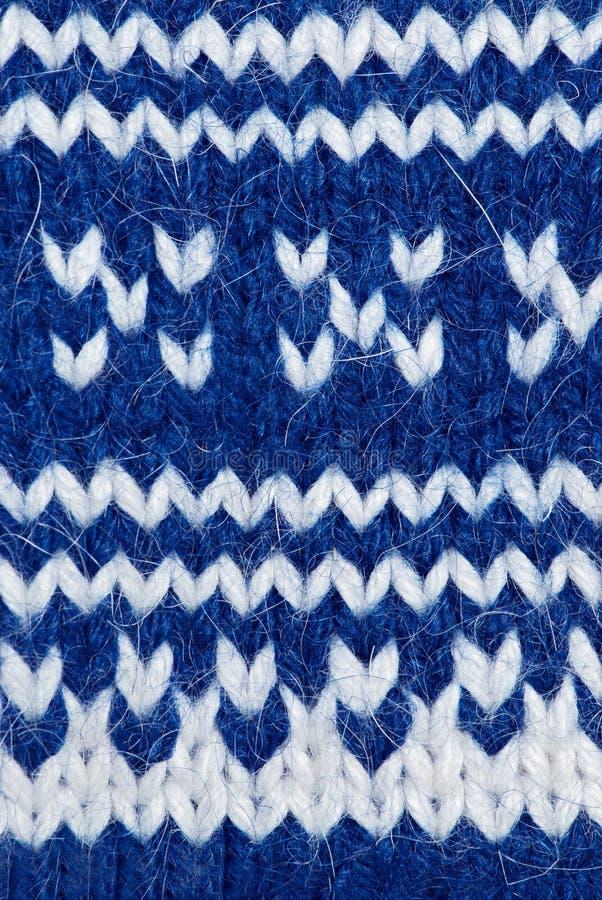 Fond de tricotage bleu photos libres de droits