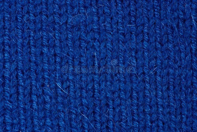 Fond de tricotage bleu photographie stock
