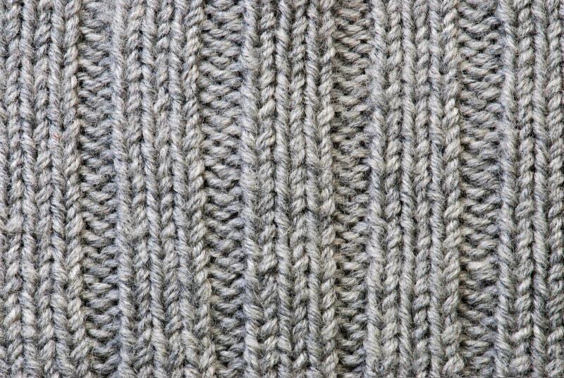 Fond de tricotage gris image libre de droits
