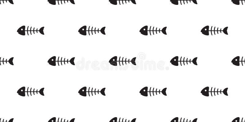 Fond de tuile de papier peint de répétition d'isolement par écharpe tropicale saumonée sans couture de mer d'océan de dauphin de  illustration libre de droits