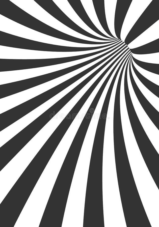 Fond de tunnel du vecteur 3D Calibre en spirale d'illusion de trou illustration stock